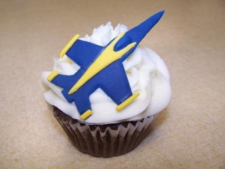 Airplane Cupcakes Super Fast Blue Angel Style Fondant