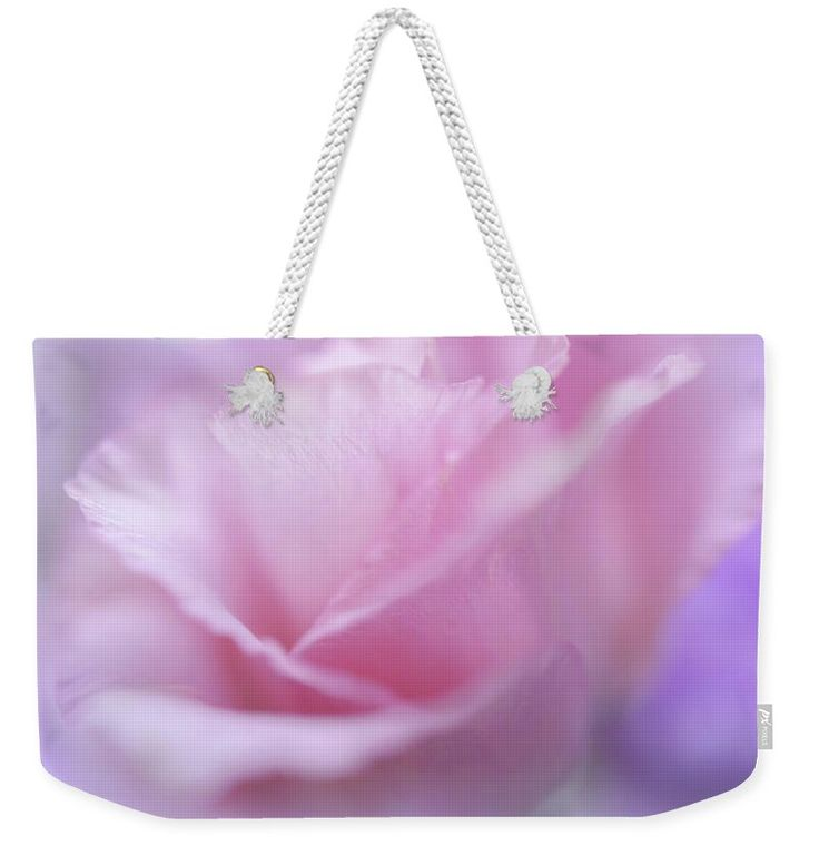"Le Baiser Rose Weekender Tote Bag (24"" x 16"") by Jenny Rainbow.  The tote bag is machine washable and includes cotton rope handle for easy carrying on your shoulder.  All totes are available for worldwide shipping and include a money-back guarantee."