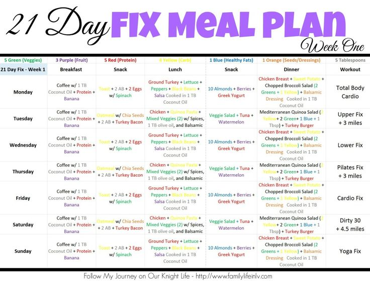 """""""21 Day Fix Meal Plan"""" """"21 Day Fix Meal Plan Week 1"""" """"21 ..."""