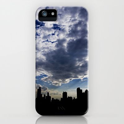 Panama City Skyline iPhone Case by LinnB, also available as art print