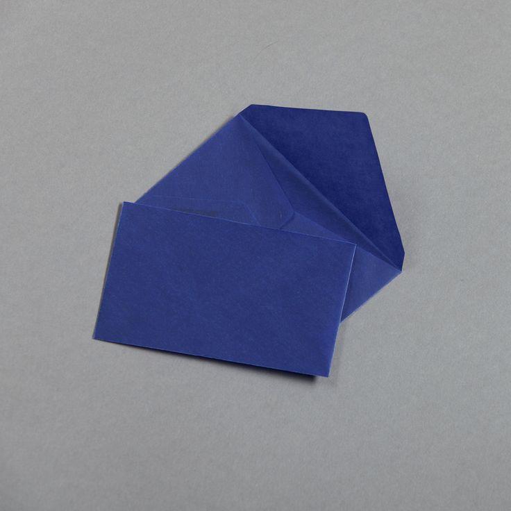Transparent Farbig Visitenkartenhüllen Blau