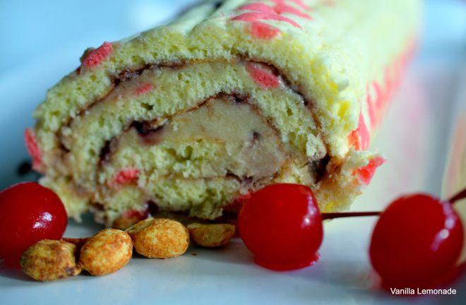 Peanut Butter Jelly Chevron Cake Roll | Vanilla Lemonade