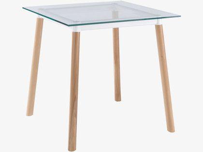 BRYCE WHITES Glass Square glass dining table - HabitatUK 80cm x 80cm £200
