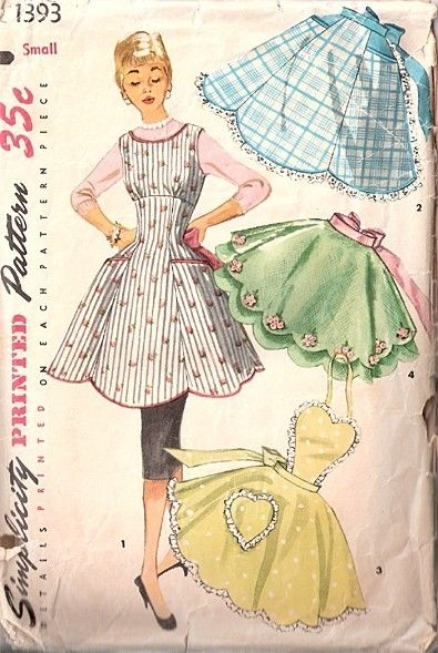 Simplicity 1393 sy s mnad och kl der for Anthropologie cuisine couture apron