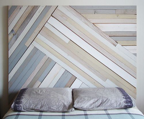Reclaimed mix of dark light boards in large chevron