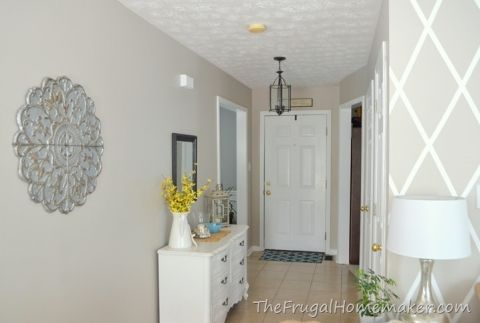 Entryway after wheat bread by behr for the home for Manhattan beige paint color