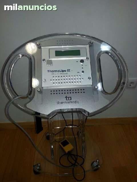 . Radiofrecuencia ThermalipoII bipolar, pr�cticamente nueva y en perfecto estado,se vende con el pedestal de metacrilato y medidor de temperatura, tiene manipulo para facial y corporal, es m�dica pero tambi�n la puede utilizar la esteticista con resultados