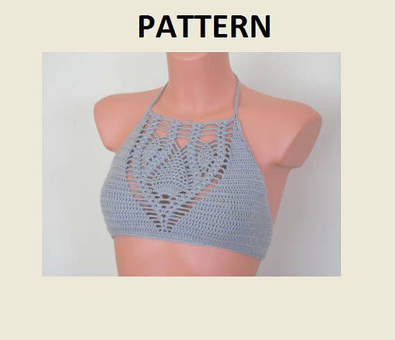 Crochet Halter Top Pattern Crochet Bikini Pattern PDF File