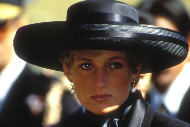 April 1, 1992: HRH Diana, Princess of Wales attending the funeral of their father, Johnny Spencer, 8th Earl Spencer who died March 30,1992.