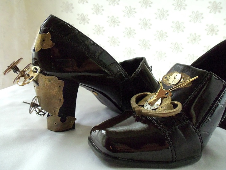 Steampunk Shoes, custom made, One of a kind, Unique Heels, MADE TO ORDER, Funky fab foot wear by Marelle. $427.00, via Etsy.: Kind Funky, Fab Shoes, Fabulous Shoes, Shoes Custom, Hopscotch Couture, Steampunk Shoes, Funky Fab, Steampunk Fun, Couture Steampunk