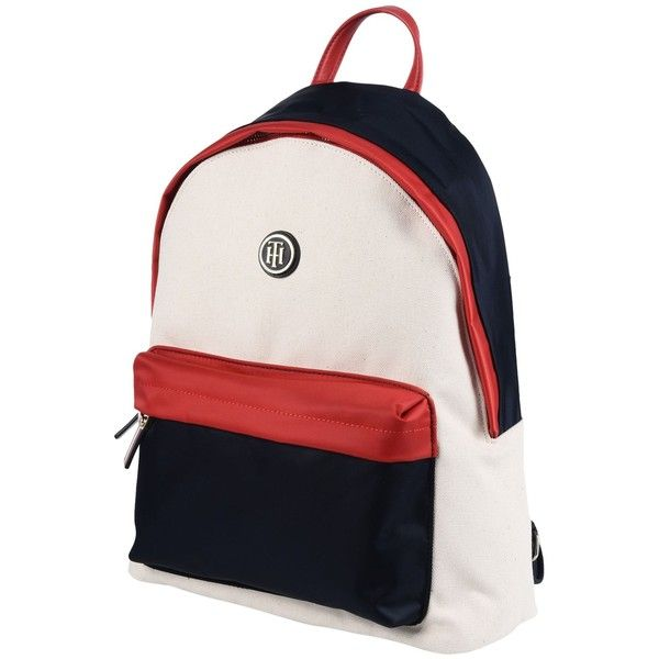 Tommy Hilfiger Backpacks & Bum Bags (425 SAR) ❤ liked on Polyvore featuring bags, red, fanny bag, day pack backpack, backpack bags, red backpack and rucksack bags