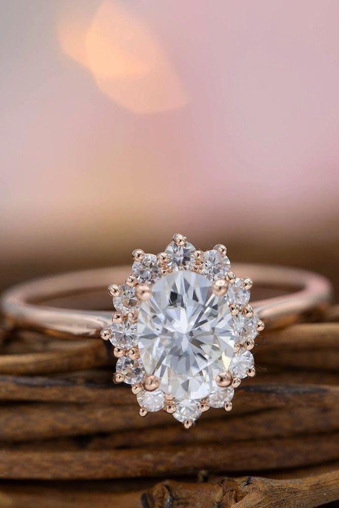 Emerald Engagement Ring White Gold Three Stone Engagement Ring