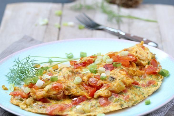Tomatenomelet   Tomato omelette   Tomaat   Tomato   Omelet   Omelette   Ei   Egg   Lente ui   Spring onion   Ontbijt   Breakfast   Eten   Food   Gezond   Healthy   Dreambody transformation   De Levensstijl   Asja Tsachigova