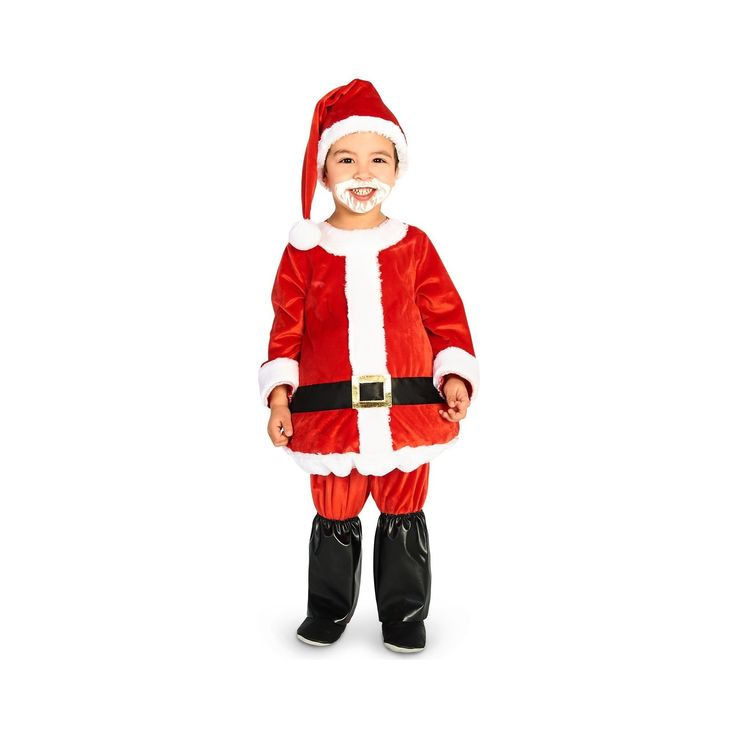Halloween Jolly Belly Toddler Santa Costume Suit 2-4T, Toddler Unisex, Size: 2T-4T, Multi-Colored