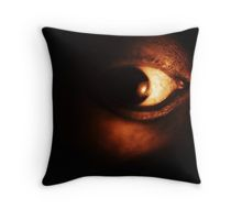 Self portrait of photographer close-up on surreal eye black and white silver gelatin analog film photo Throw Pillow
