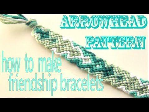 ▶ How to Make Friendship Bracelets ♥ Arrowhead Pattern - YouTube