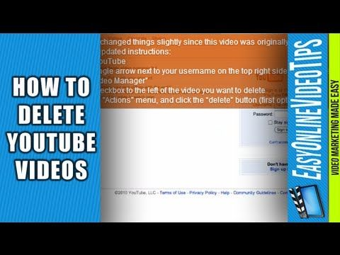 Have you ever accidentally uploaded the wrong video to YouTube?  This video shows you how to delete YouTube videos as of 2012 (hopefully YouTube doesn't change it very often)  http://www.EasyOnlineVideoTips.com/OnlineVideoMarketing
