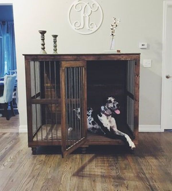 40 Comfy Large Dog Crate Ideas 36
