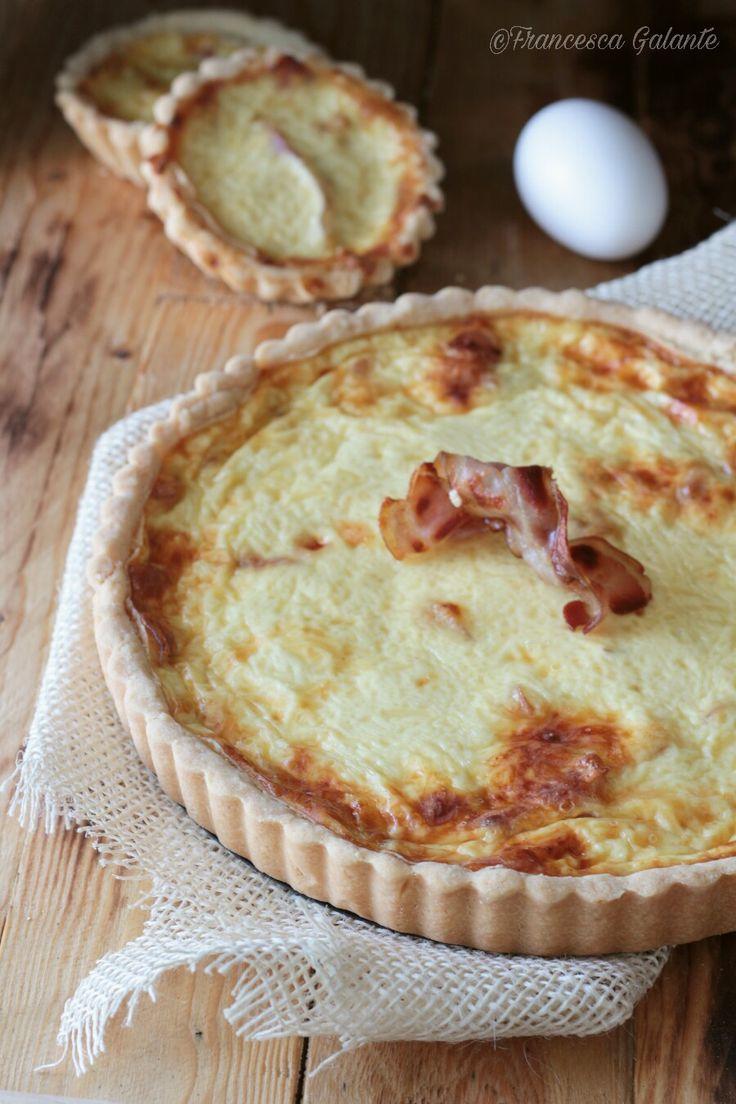 Quiche salata al bacon (pasta sablè)  Giorilli