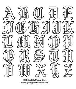 Image detail for -Old English Letters Tattoos-Old English Tattoo Fonts