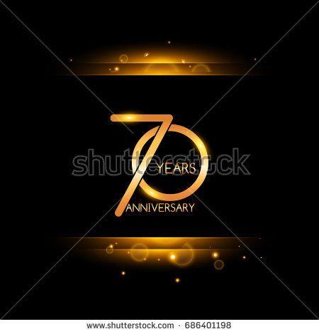 70 years golden anniversary celebration logo