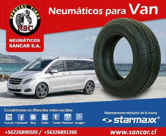 Todos los neumáticos en un solo lugar www.sancar.cl NEUMÁTICOS PARA VAN Y MINI VAN