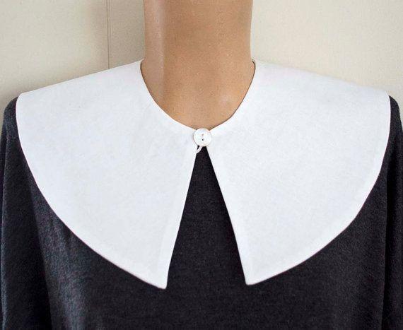 Cuello desmontable de Peter Pan, mariposa - disponible en blanco o marfil - traje accesorios más amplia versión