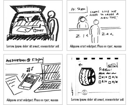 9 best Scenarios, Storyboards, Thumbnail sketches, Sitemaps - interactive storyboards