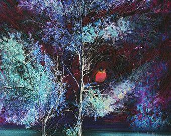 Articoli simili a Strada meno percorsa, 11 x 18 pollici, arte, fotografia metallica, natura, arte dell'albero, turchese, sentieri, eterei, paesaggio su Etsy