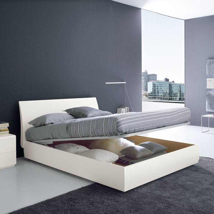 Graffiti Modern Storage Bed. Made In Italy With Storage Base That Lifts Up  To Reveal