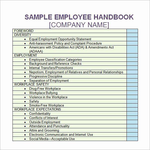 Employee Handbook Template Word Gildenlow Employee Handbook Template Employee Handbook Employee Training