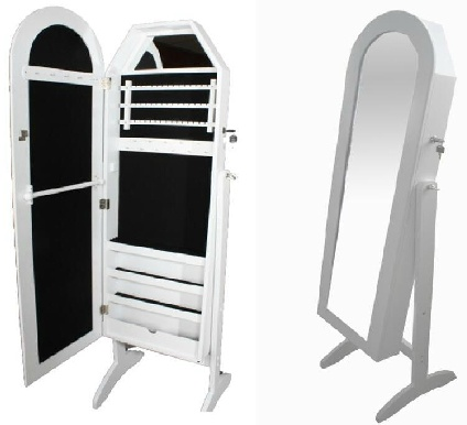 Espejo Ovalado Con Joyero Espejos De Pie Pinterest