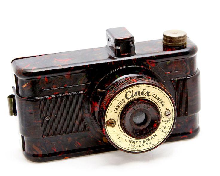 Marbleized Bakelite Camera Candid Cinex Chicago by OldieCameras. $185.00, via Etsy.
