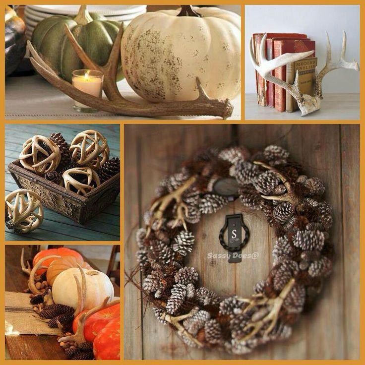 Deer antler decorating tips tattoo pinterest for Antler decorations for home