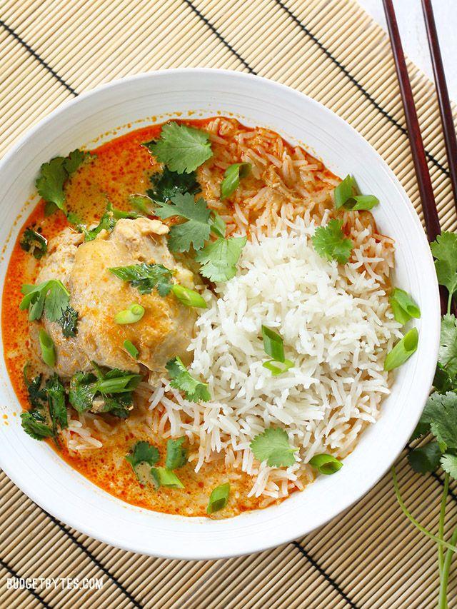 Thai Coconut Curry Braised Chicken