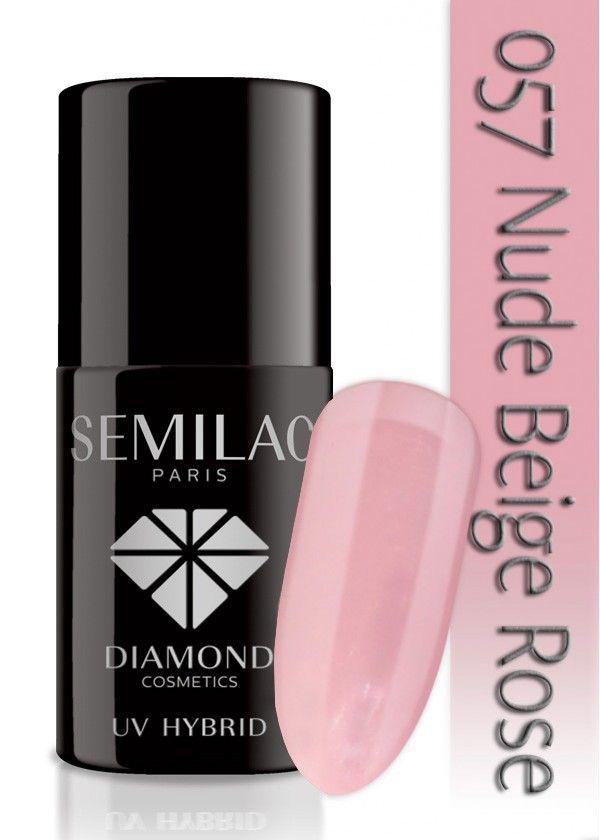 Semilac Lakier Hybrydowy 057 Nude Beige Rose 7ml