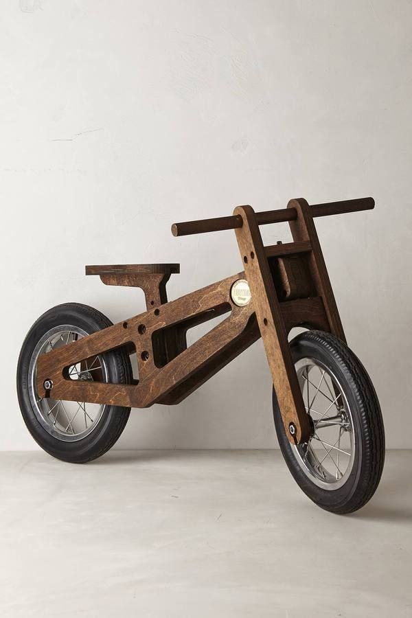 Teach your tot how to ride a bike by first teaching them balance on this baby: Bennett Balance Bike available at Anthropologie. Made in USA