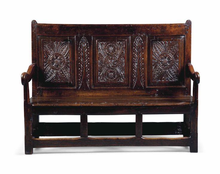 Charles Ii Oak Settle Antique Furniture Pinterest