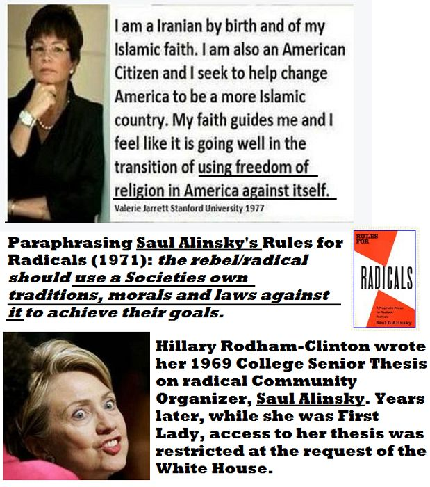 [Click Pic for Link] What do @HillaryClinton, Saul Alinsky & Valerie Jarrett have in Common? #Millennials #Boomers #GenX #Teen @GOP @TheDemocrats @MNGOP @MinnesotaDFL #college #student #highschool #communism #RulesforRadicals