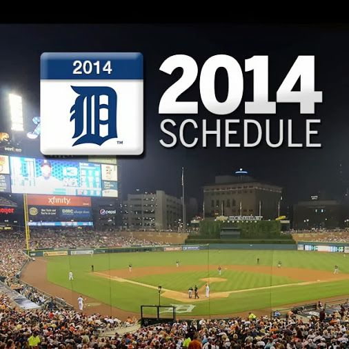 Detroit Tigers 2014 Schedule