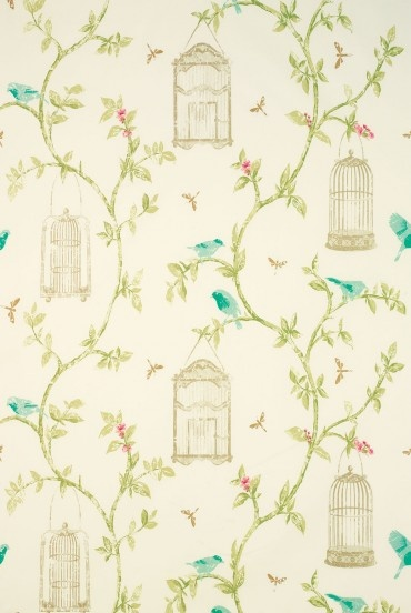 BIRDCAGE WALK Fabric from Nina Campbell-LOVE LOVE LOVE