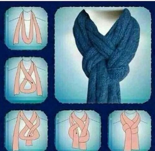 Strep to step how to put on a scarf
