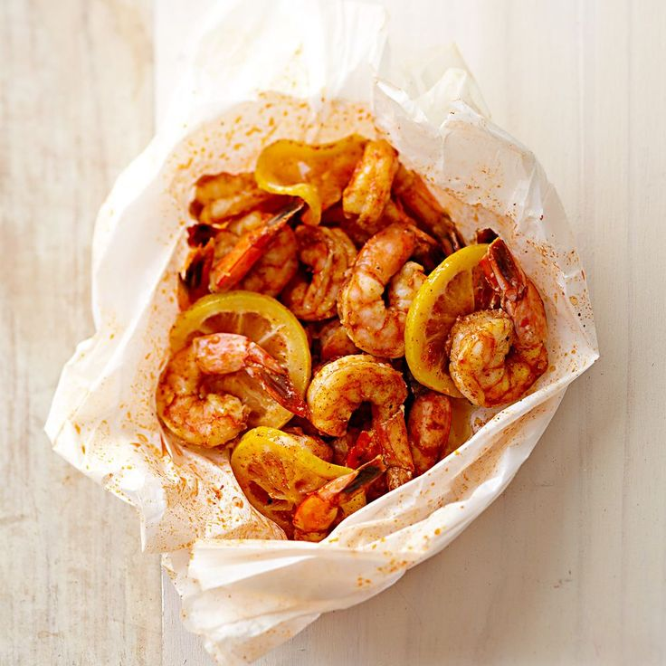 Shrimp with Lemon en Papillote | Williams-Sonoma (so good and easy!)