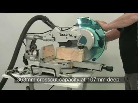 Alan Holtham demonstrates the Makita LS 1216L sliding compound mitre saw