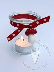 Windlichter für die Silvester-Tafel