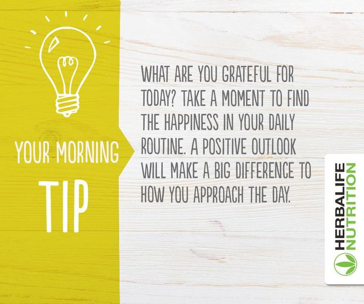 Your morning tip from #Herbalife Nutrition ...