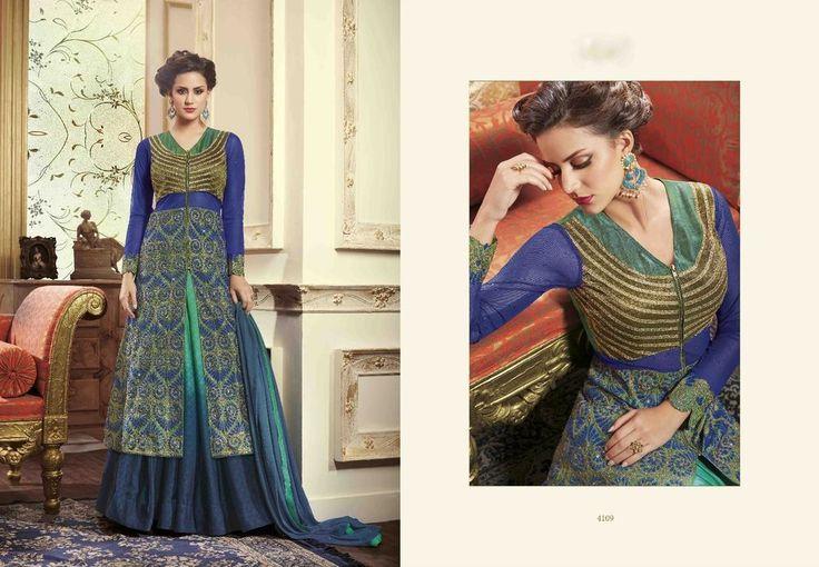 Indian Salwar Kameez Ethnic Anarkali Pakistani Suit Bollywood Designer Dress #ManasCollections #SalwarKameez #PartyWear
