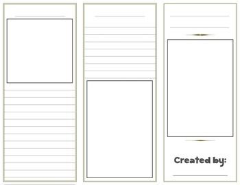 Blank Brochure Template with rubric...great for cross curricular projects!