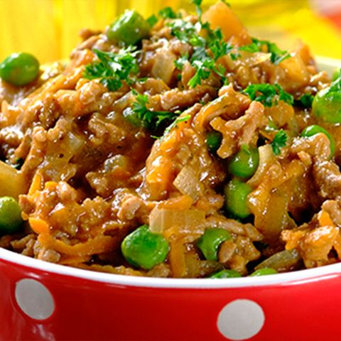 Flavourful Curried Mince With Mixed Vegetables