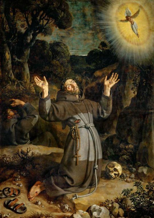 San Francisco de Asís, recibiendo los estigmas. (1620 Frans Pourbus el joven.)